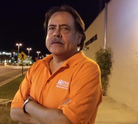 Jose De La Cruz tests and educates those leaving the Riverside County Jail in Indio.