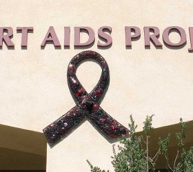 Desert AIDS Project World AIDS Day Glass Ribbon