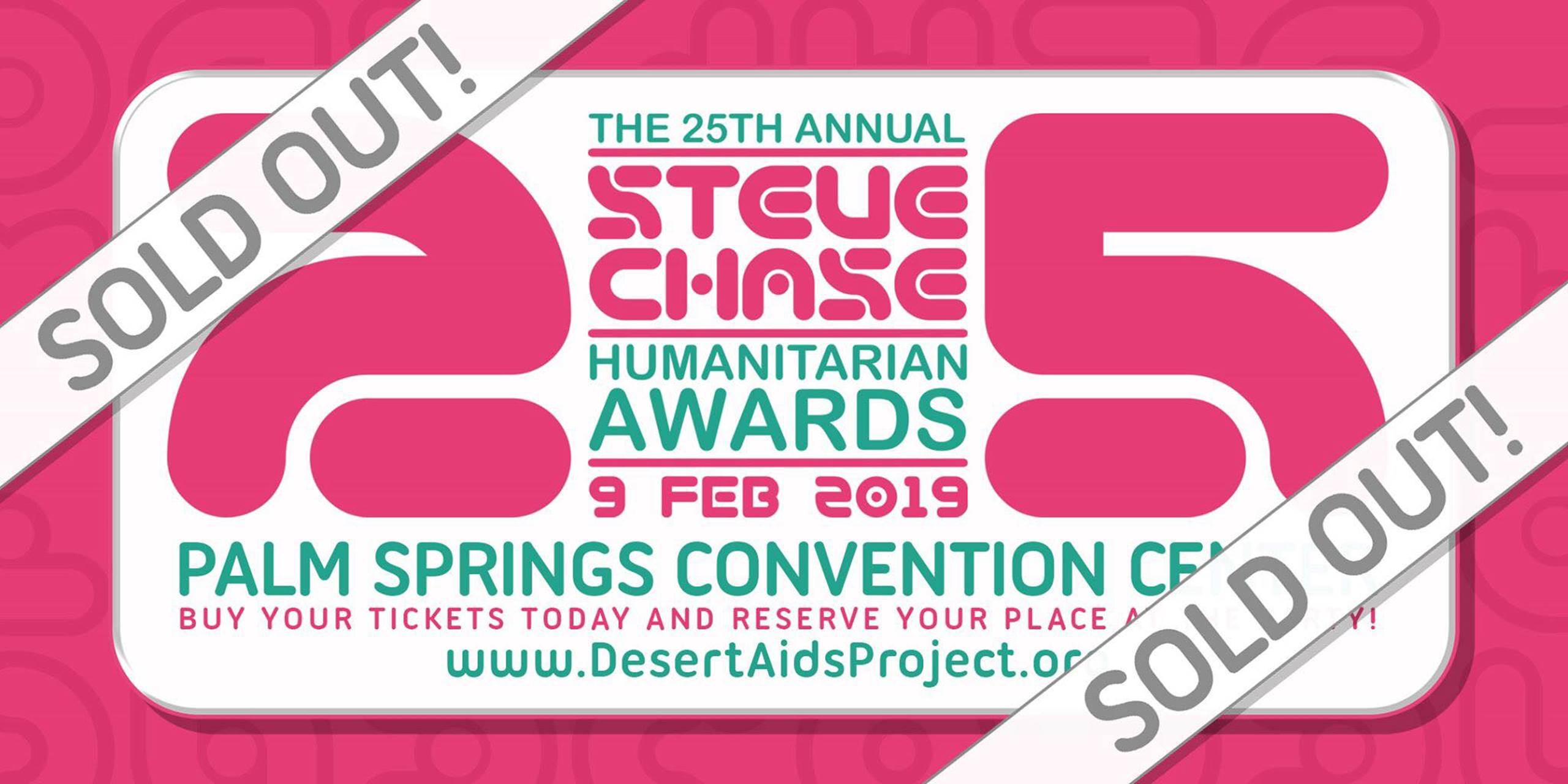 Chase Calendar February 2019 25th Annual Steve Chase Humanitarian Awards   Desert AIDS Project
