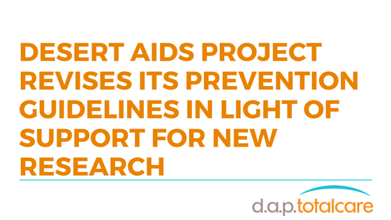 D.A.P. Revises HIV Prevention Guidelines